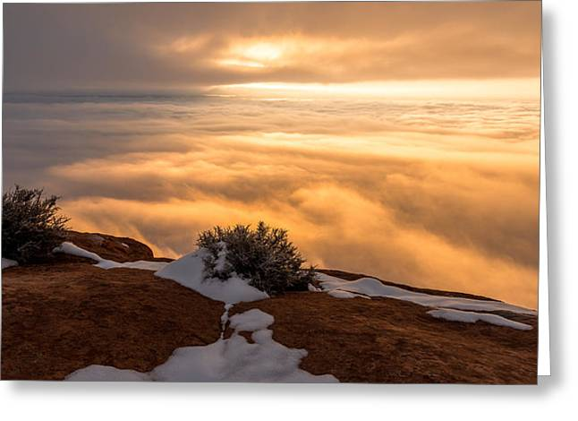 Overlook Greeting Cards - Grand View Glow Greeting Card by Chad Dutson