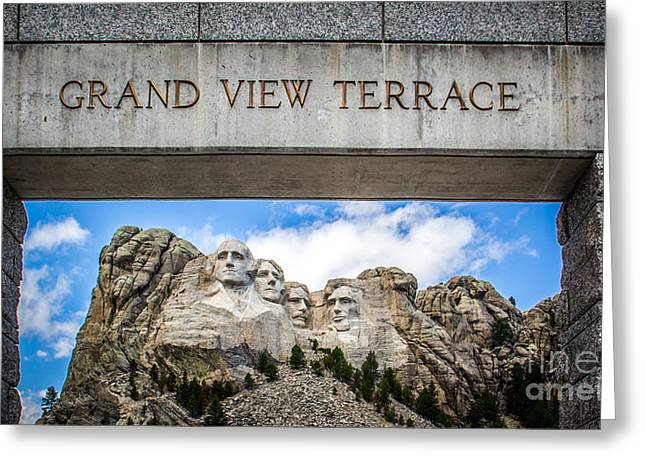 Borglum Greeting Cards - Grand View Terrace Greeting Card by Perry Webster