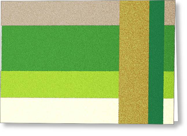 Rectangles Greeting Cards - Grandcracker Greeting Card by Circles of Art