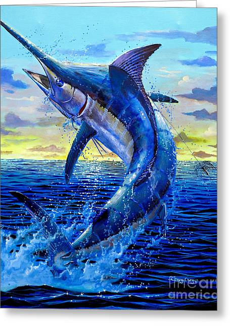 Fishing Rods Greeting Cards - Grander Off007 Greeting Card by Carey Chen
