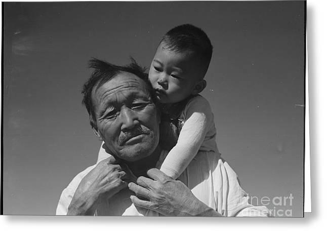 Grandson Greeting Cards - Grandfather and grandson Greeting Card by Celestial Images