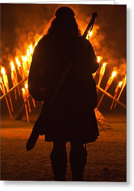 Torchlight Greeting Cards - Grandfather Mountain Highland Games Greeting Card by Kevin Adams