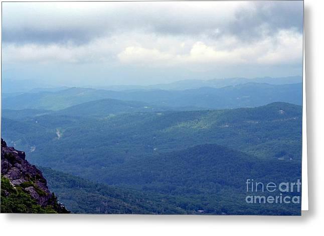 Eva Thomas Greeting Cards - Grandfather Mountain Linville NC Greeting Card by Eva Thomas