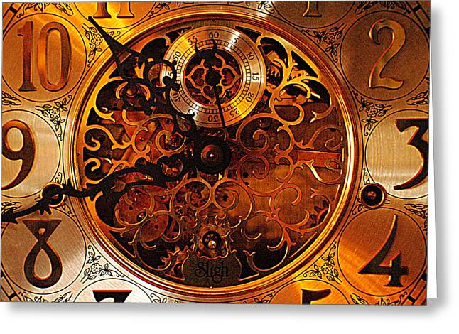 Mechanism Photographs Greeting Cards - Grandfather Time Greeting Card by Frozen in Time Fine Art Photography