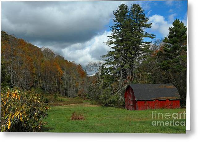 Grandfather's Barn Greeting Card by Benanne Stiens