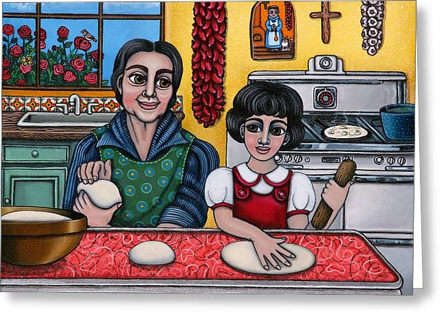 Hispanic Greeting Cards - Grandma Kate Greeting Card by Victoria De Almeida
