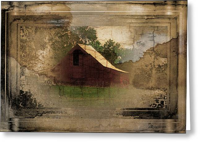 Tennessee Barn Digital Art Greeting Cards - Grandmas Attic - The old Barn - Featured image in Barns Big and Small Greeting Card by EricaMaxine  Price