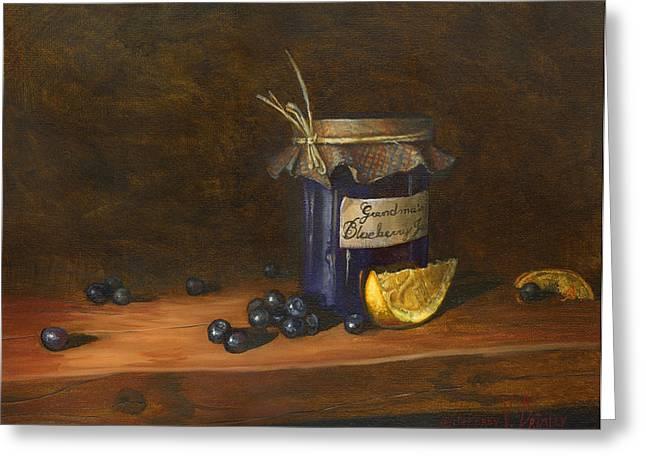 Grandma's Blueberry Jam Greeting Card by Jeff Brimley
