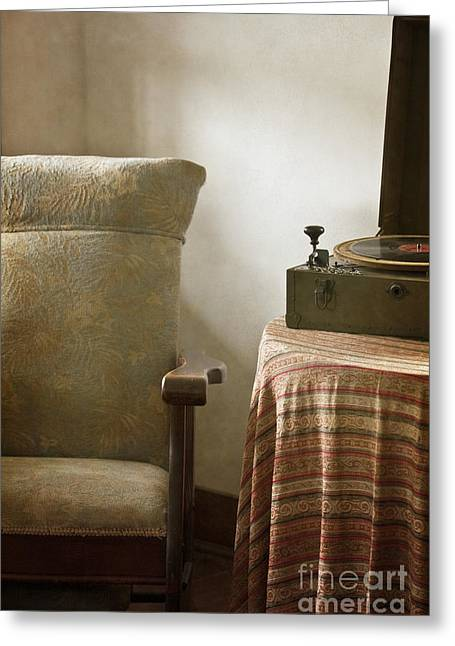 Interior Still Life Greeting Cards - Grandmas Chair Greeting Card by Margie Hurwich