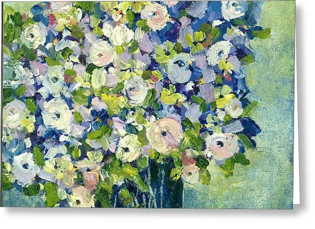 Grandma's Flowers Greeting Card by Sherry Harradence