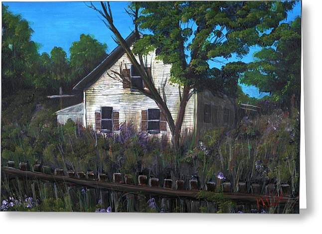 Old Maine Houses Greeting Cards - Grandmas House Greeting Card by James Kruse