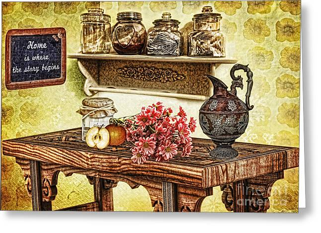 Hdr Photos Greeting Cards - Grandmas Kitchen Greeting Card by Mo T
