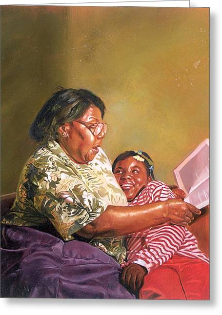 Grandchildren Greeting Cards - Grandmas Love Greeting Card by Colin Bootman