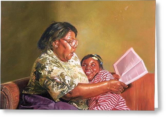 Grandmas Love Greeting Card by Colin Bootman