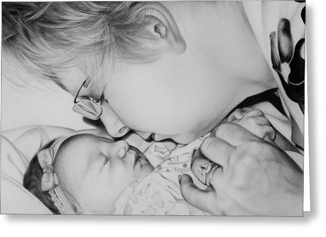 Amazing Drawings Greeting Cards - Grandmas Love Greeting Card by Natasha Denger