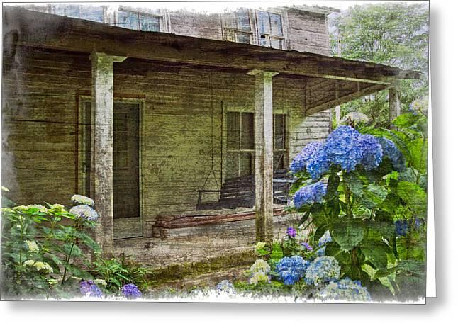Tennessee Farm Greeting Cards - Grandmas Porch Greeting Card by Debra and Dave Vanderlaan