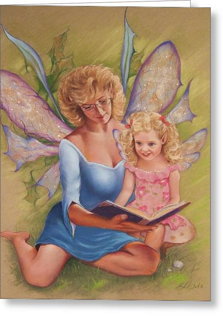Fairies Pastels Greeting Cards - Grandmother Fairy Greeting Card by Ed Hicks