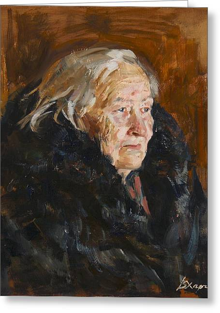 Grandmother Greeting Cards - Grandmother Greeting Card by Victoria Kharchenko