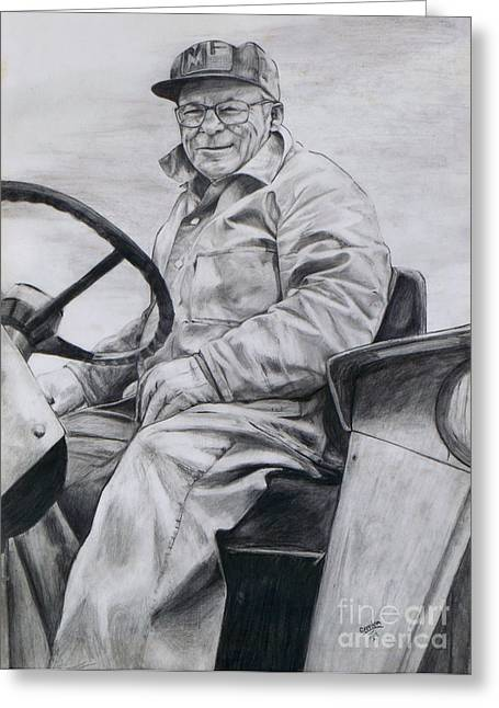 Maine Agriculture Drawings Greeting Cards - Grandpa Greeting Card by Joy Nichols