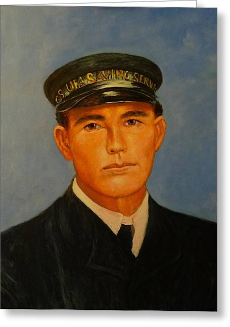Galveston Paintings Greeting Cards - Grandpa Peterson Greeting Card by Charles Munn