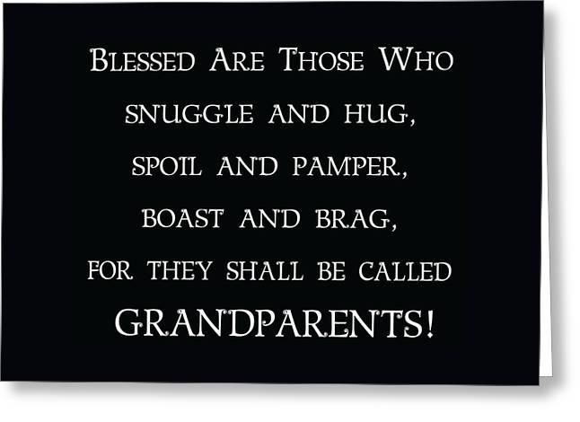 Grandparents Greeting Card by Jaime Friedman