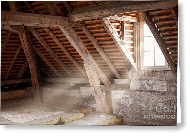 Rafters Greeting Cards - Grandpas attic Greeting Card by Delphimages Photo Creations