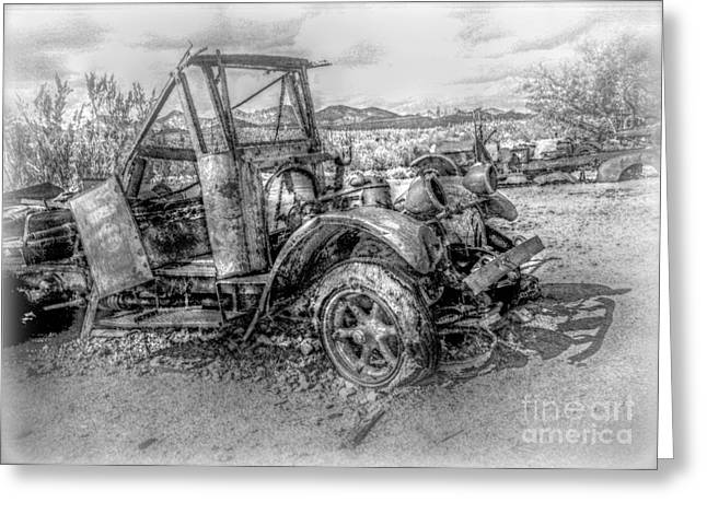 Hdr Look Digital Greeting Cards - Memories of Grandpa Greeting Card by Janice Sakry