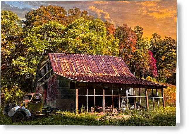Tennessee Farm Greeting Cards - Grandpas Old Truck Greeting Card by Debra and Dave Vanderlaan