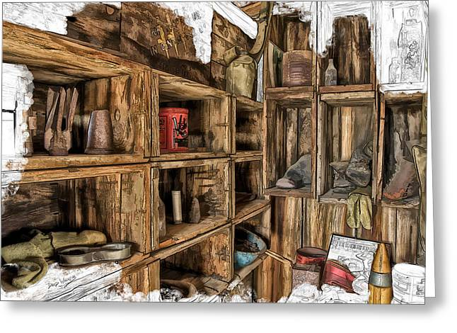 Grampa Greeting Cards - Grandpas Shed Greeting Card by David Wagner