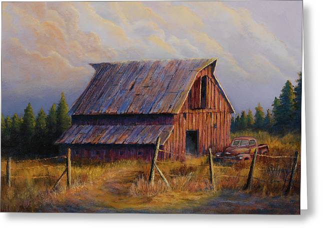 Barns Greeting Cards - Grandpas Truck Greeting Card by Jerry McElroy