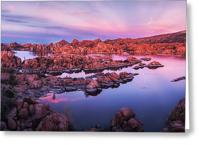 Granite Dells Reflections Greeting Cards - Granite Dells - 2 Greeting Card by Alex Mironyuk
