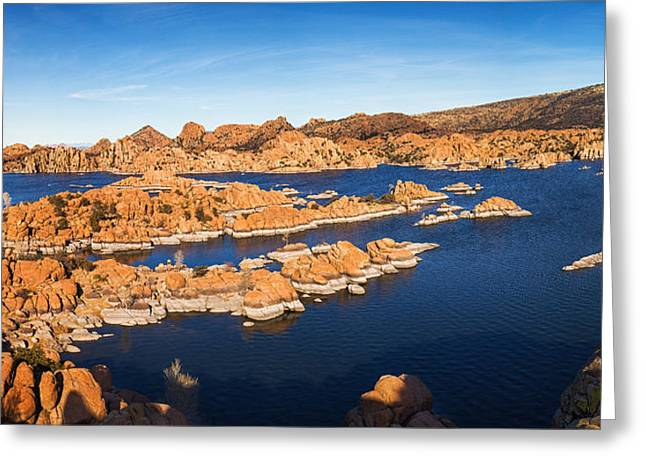 Granite Dells Reflections Greeting Cards - Granite Dells Greeting Card by Alex Mironyuk