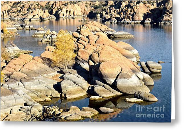 Watson Lake Greeting Cards - Granite Dells Greeting Card by Jim Chamberlain
