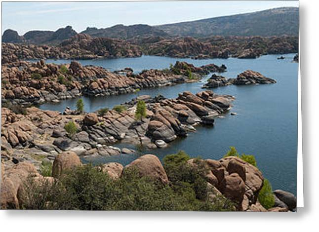 Watson Lake Greeting Cards - Granite Dells Greeting Card by Shannon Hastings