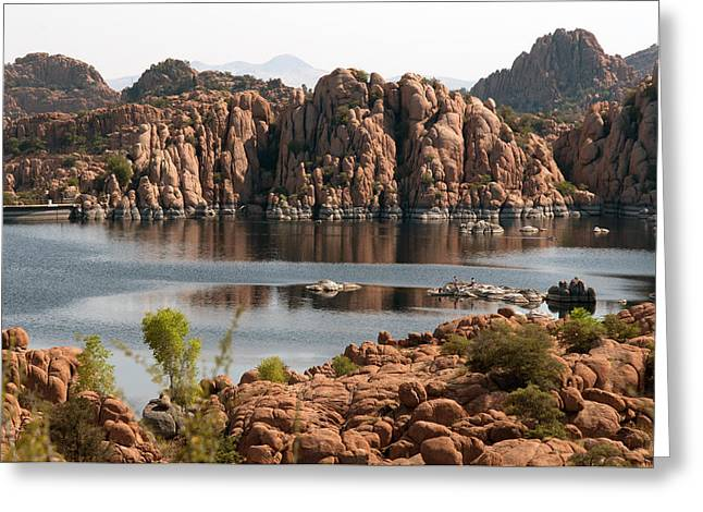 Prescott Greeting Cards - Granite Dells Greeting Card by Tam Ryan