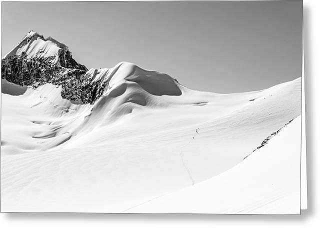 Black And White Nature Landscapes Greeting Cards - Granite Glacier Greeting Card by Ian Stotesbury