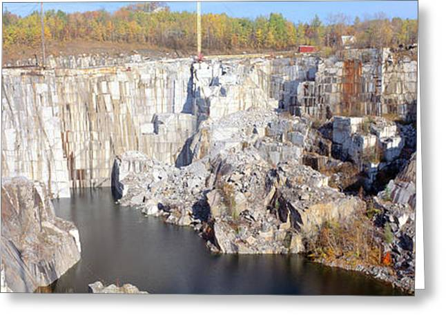 Landforms Greeting Cards - Granite Quarry, Barre, Vermont Greeting Card by Panoramic Images