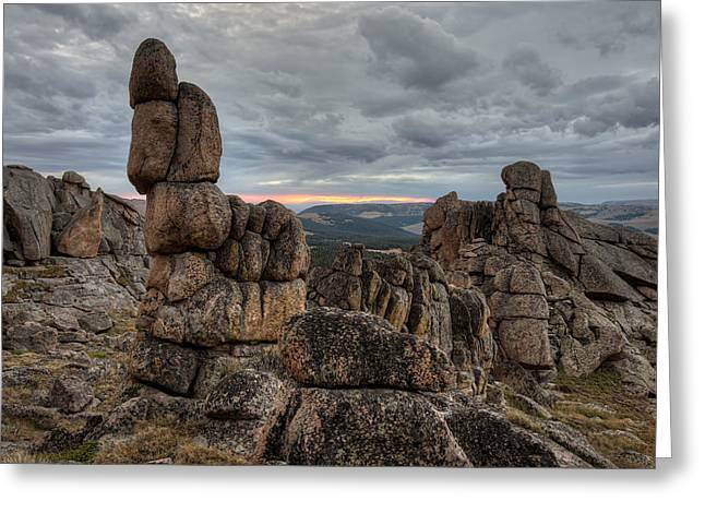 Granite Shape And Form Greeting Card by Leland D Howard