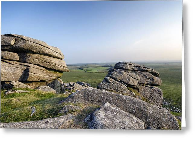 Tor Greeting Cards - Granite Tor Greeting Card by Helen Hotson