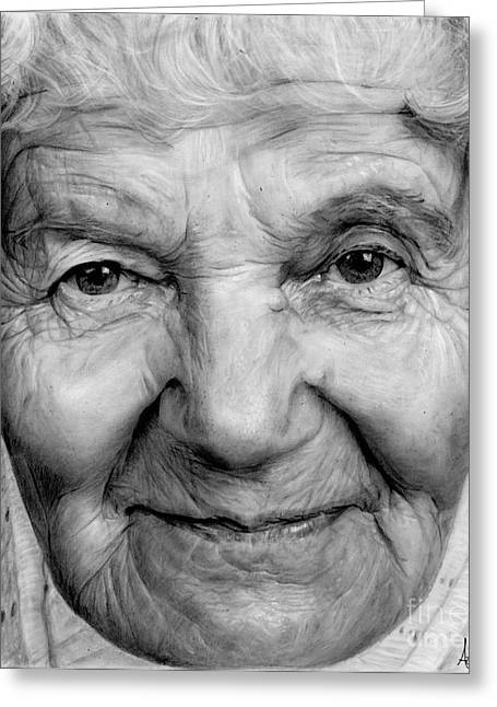 Hyperrealistic Greeting Cards - Grannies 12#03 Greeting Card by Arual Jay