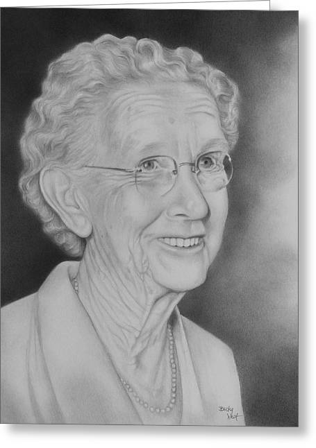Becky Greeting Cards - Granny Smith Greeting Card by Becky West