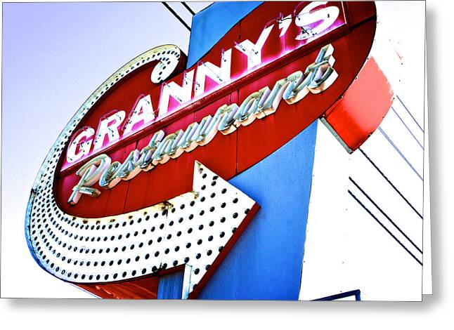 Kitchen Wall Greeting Cards - Grannys Greeting Card by Brandon Addis