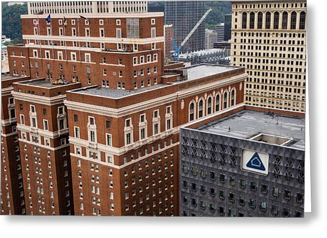 Alcoa Greeting Cards - Grant Street Office Buildings Greeting Card by Amy Cicconi