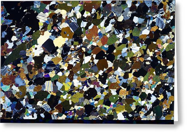 Alkaline Greeting Cards - Granulite mineral, light micrograph Greeting Card by Science Photo Library
