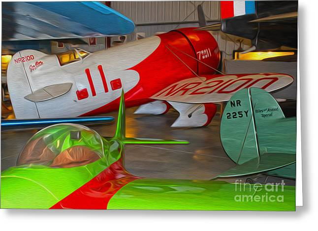 Granville Brothers Gee Bee R-1 Racer Greeting Card by Gregory Dyer