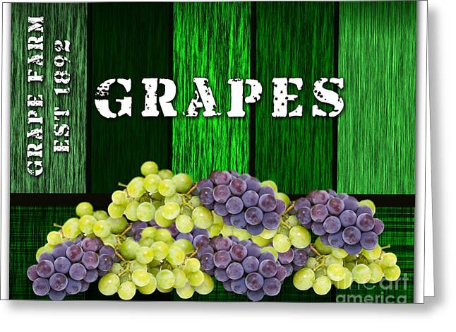 Fruit Greeting Cards - Grape Farm Greeting Card by Marvin Blaine
