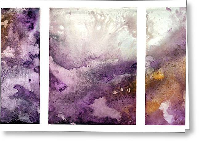 Grape Impressions Original Madart Painting Greeting Card by Megan Duncanson
