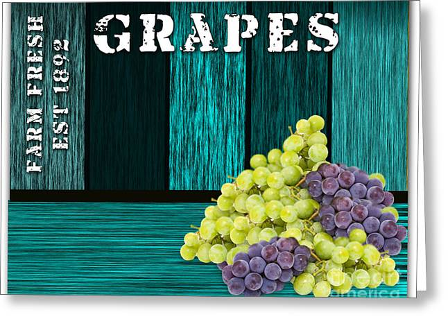 Blue Grapes Photographs Greeting Cards - Grape Sign Greeting Card by Marvin Blaine