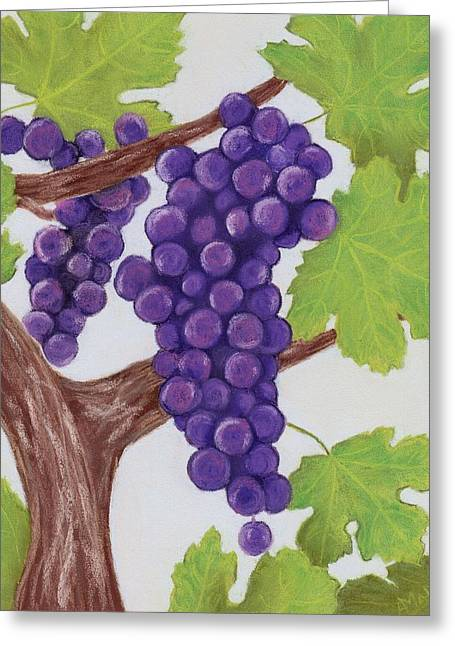 Hope Pastels Greeting Cards - Grape Vine Greeting Card by Anastasiya Malakhova