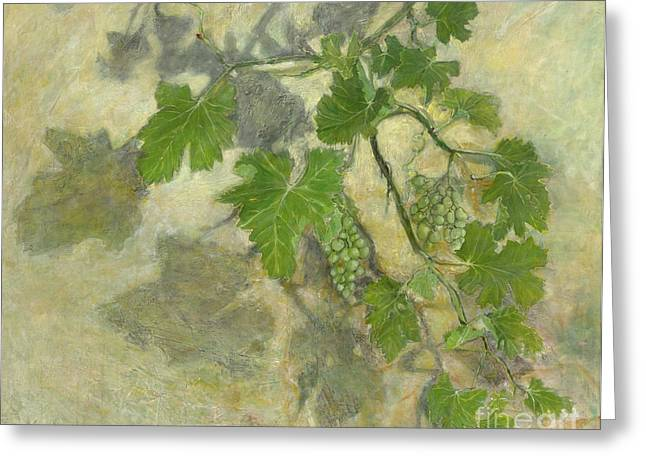 Grape Clusters Greeting Cards - Grape vine  Greeting Card by Nurit Shany